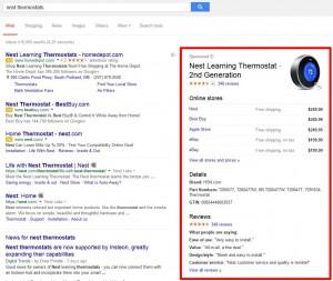 google onebox pla ads